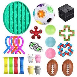 25-Pack Fidget Toys Set - Pop it, Stress Balls, Sensorisk leksak