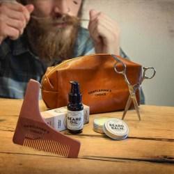 Skäggvård - Beard Kit  med Necessär i läder
