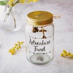 Adventure Fund Spargris Burk Sparbössa från Sass & Belle