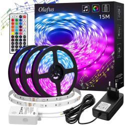 LED-List Stripe med RGB LED-Strip 15 meter 44 knappar kontroll