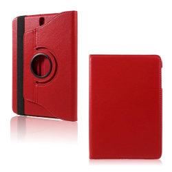 Samsung Galaxy Tab S3 roterbart stativ läderfodral - Röd