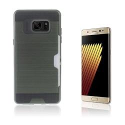 2-i-1 Skal med Kortfack för Samsung Galaxy Note 7 - Armégrön