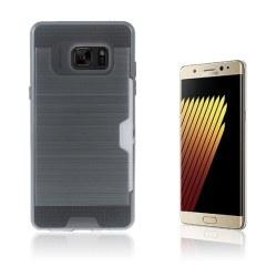 2-i-1 Skal med Kortfack för Samsung Galaxy Note 7 - Grå