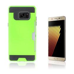 2-i-1 Skal med Kortfack för Samsung Galaxy Note 7 - Grön