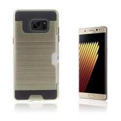 2-i-1 Skal med Kortfack för Samsung Galaxy Note 7 - Guld