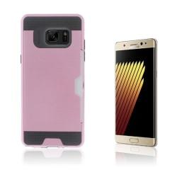 2-i-1 Skal med Kortfack för Samsung Galaxy Note 7 - Rosa
