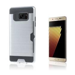 2-i-1 Skal med Kortfack för Samsung Galaxy Note 7 - Silver