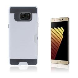 2-i-1 Skal med Kortfack för Samsung Galaxy Note 7 - Vit