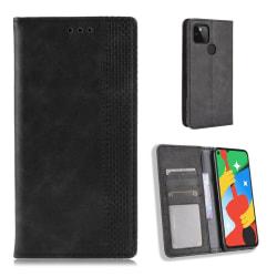 Bofink Vintage Google Pixel 4a 5G leather case - Black