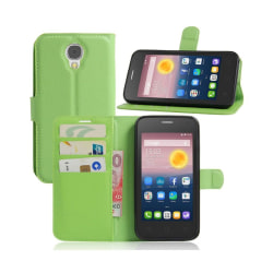 Alcatel Pixi 4 (5) 3G litchi läderfodral - Grön