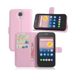 Alcatel Pixi 4 (5) 3G litchi läderfodral - Rosa