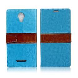 Alcatel Pixi 4 (5) 3G plånbok läderfodral - Blå