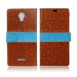 Alcatel Pixi 4 (5) 3G plånbok läderfodral - Brun