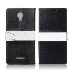 Alcatel Pixi 4 (5) 3G plånbok läderfodral - Svart