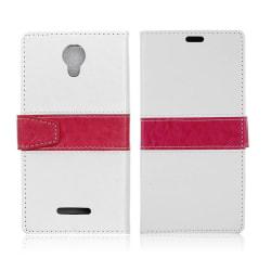 Alcatel Pixi 4 (5) 3G plånbok läderfodral - Vit