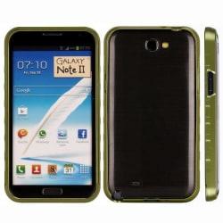 AluLite (Röd) Samsung Galaxy Note 2 Aluminium-Bumper