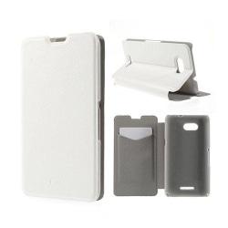 Amdrup Sony Xperia E4G med Plånbok - Vit