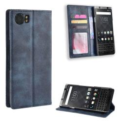 Bofink Vintage BlackBerry Keyone leather case - Blue