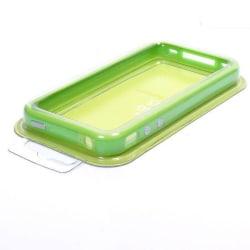 Bumper till iPhone 4/4S med Metallknappar (Grön)