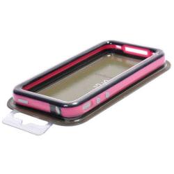 Bumper till iPhone 4/4S med Metallknappar (Svart - Rosa Kant