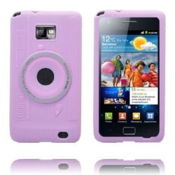 Camera Skal (Ljusrosa) Samsung Galaxy S2 Silikonskal