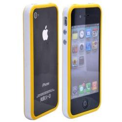 Candy Stripes Bumper (Gul - Vit Kant) iPhone 4S-Bumper
