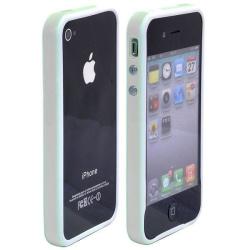 Candy Stripes Bumper (Vit - Grå Kant) iPhone 4S-Bumper