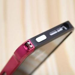 Carbon Back (Svart - Het Rosa) iPhone 4 Aluminium-Bumper