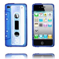 Cassette Skal Semi-Transparent (Blå) iPhone 4/4S Silikonskal