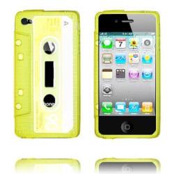 Cassette Skal Semi-Transparent (Gul) iPhone 4/4S Silikonskal
