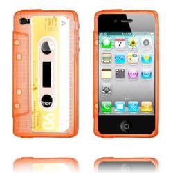 Cassette Skal Semi-Transparent (Orange) iPhone 4/4S Silikons