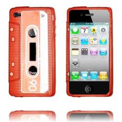 Cassette Skal Semi-Transparent (Röd) iPhone 4/4S Silikonskal