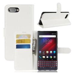 Classic BlackBerry KEY2 LE flip case - White
