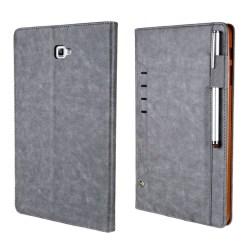 CMA12 Samsung Galaxy Tab A 10.1 (2016) Vikbart fodral - Grå