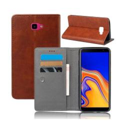 Crazy Horse Samsung Galaxy J4 Plus (2018) plånboksfodral i l