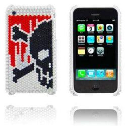 Diamond Skull (Röd/Silver) iPhone 3GS Skal