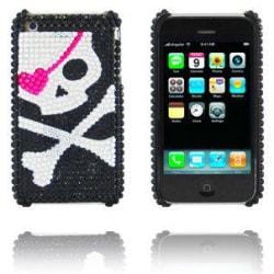 Diamond Skull (Rosa/Silver) iPhone 3GS Skal