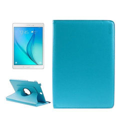 ENKAY Litchi Grain Samsung Galaxy Tab A 9.7 Fodral - Ljus Bl