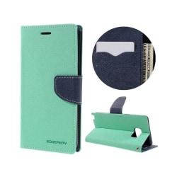 Fancy Läderfodral för Samsung Galaxy Note 7 - Cyan