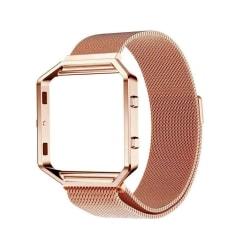 Fitbit Blaze magnetiskt inramat klockarmband i rostfritt stål - Ro