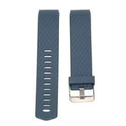 Fitbit Charge 2 Enkelt silikon klockband - Blå