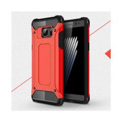 Flexibelt Hybrid Skal för Samsung Galaxy Note 7 - Röd