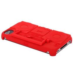 Ghetto Blaster (Röd) iPhone 4/4S Skal