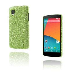 Glitter (Grön) Google Nexus 5 Skal