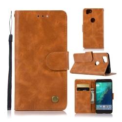 Google Pixel 2 mobilfodral PU läder plånbok stående position