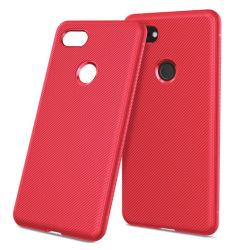 Google Pixel 3 XL mobilskal silikon kypert textur - Röd