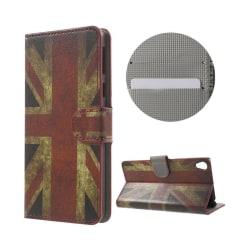 Hagerup Sony Xperia E5 Läderfodral - UK Flagga
