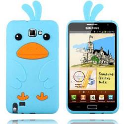 Happy Bird (Ljusblå) Samsung Galaxy Note Skal