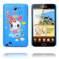 Happy Cartoon (Blå - Flygande Kanin) Samsung Galaxy Note Ska