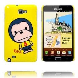 Happy Cartoon Ver. 2 (Apa - Gul) Samsung Galaxy Note Skal